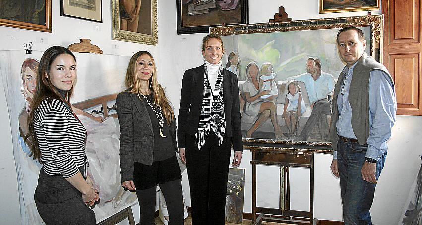 El pintor José María Fayos inaugura su estudio