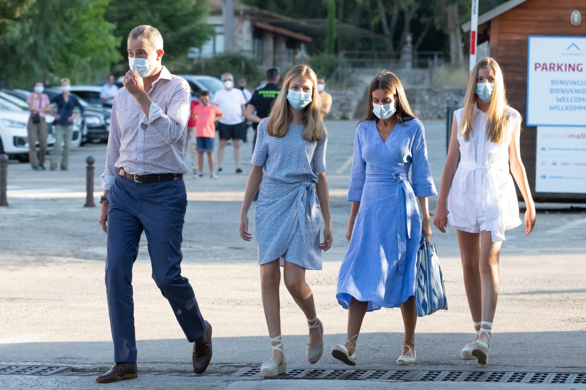 La Familia Real visita Lluc en su único acto en Mallorca