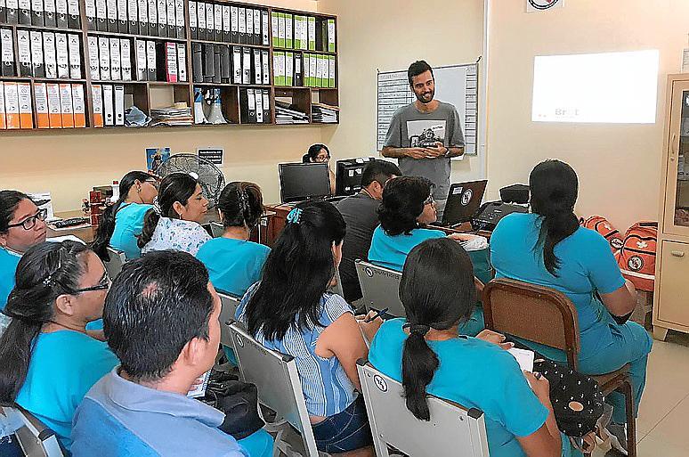 Cristian trabajó sobre la alimentación en la primera infancia en Perú