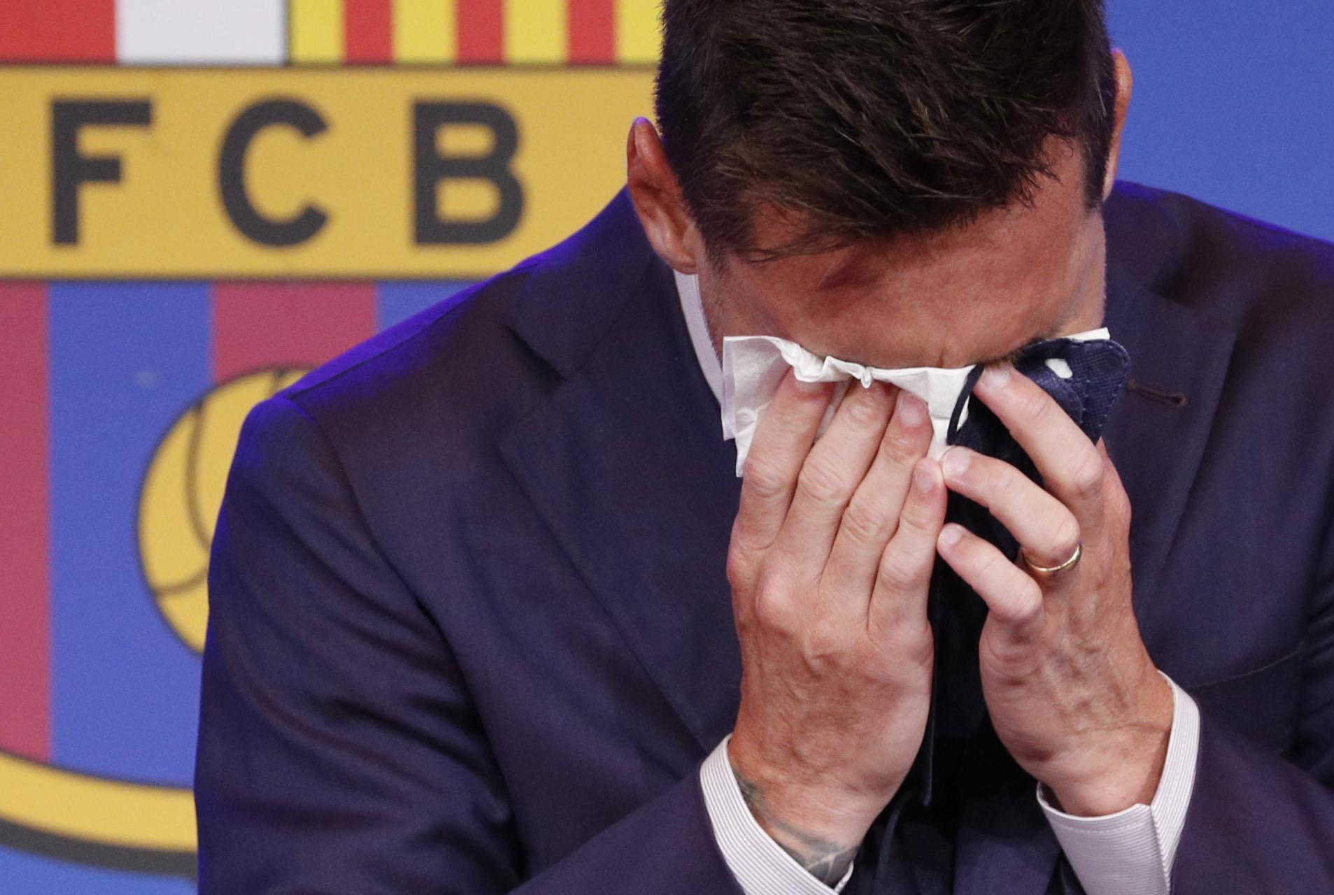 Leo Messi no ha podido evitar emocionarse
