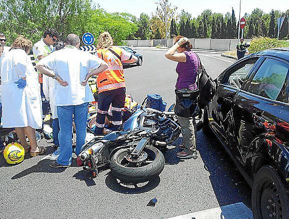 Fallece un motorista de 40 años tras sufrir un accidente en el Molinar