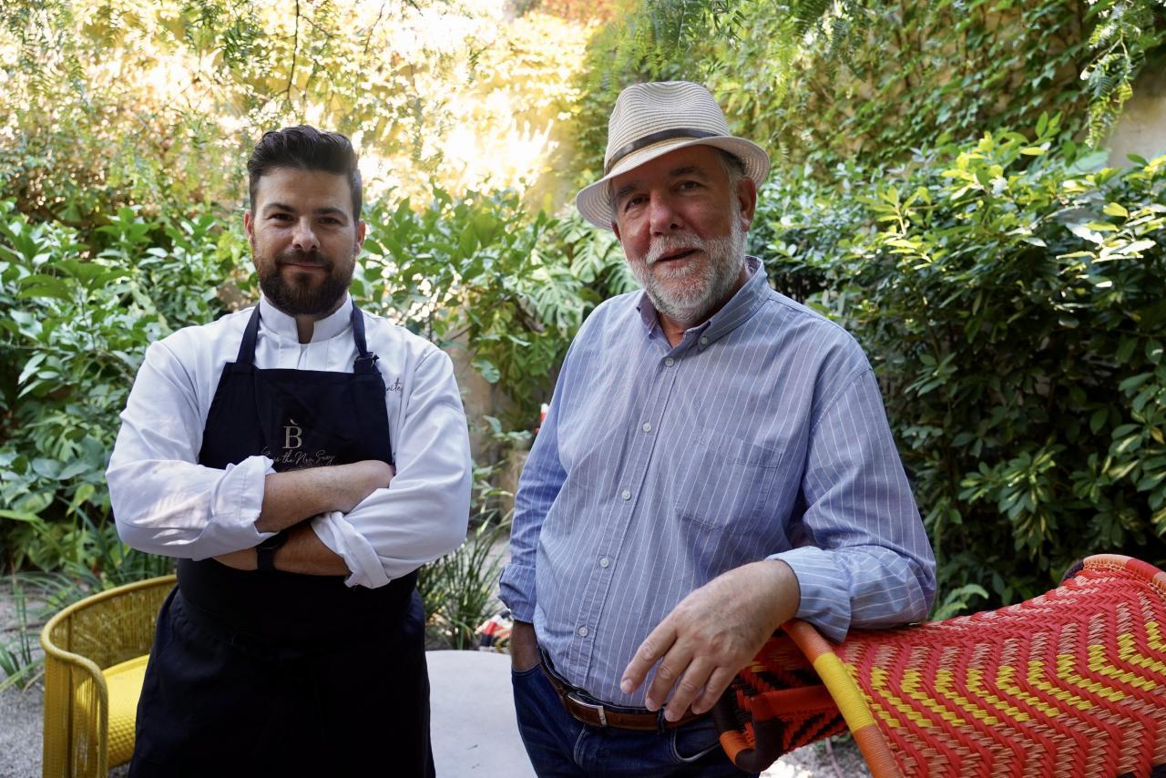 Andrés Benítez junto a Miquel Àngel Adrover.