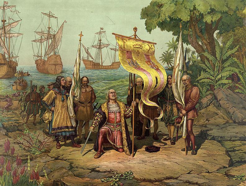 DESEMBARCO DE CRISTOBAL COLON EN EL NUEVO MUNDO EL 12 DE OCTUBRE DE 1492. DESCUBRIMIENTO DE AMERICA