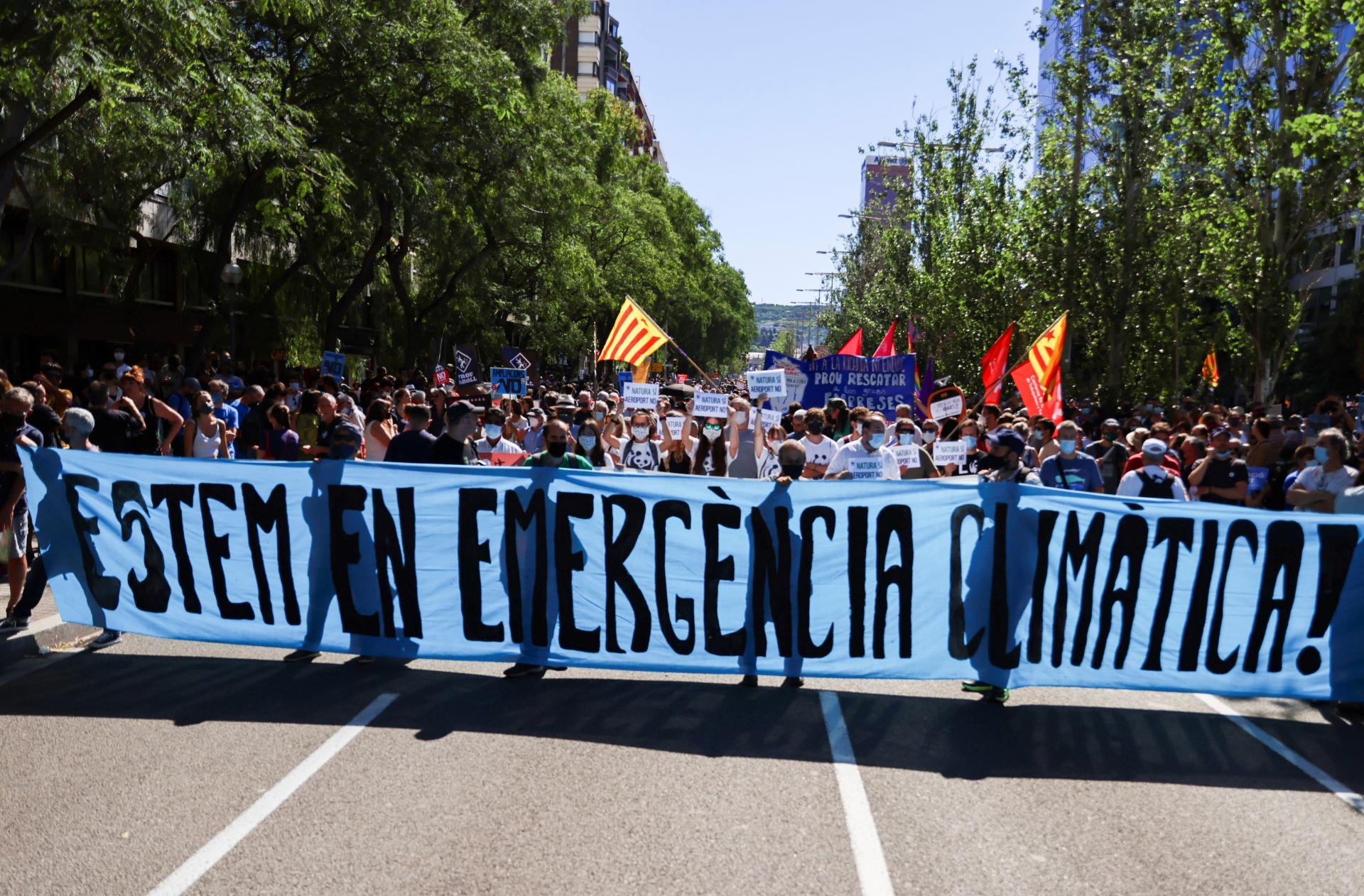 Protest against Barcelona airport expansion