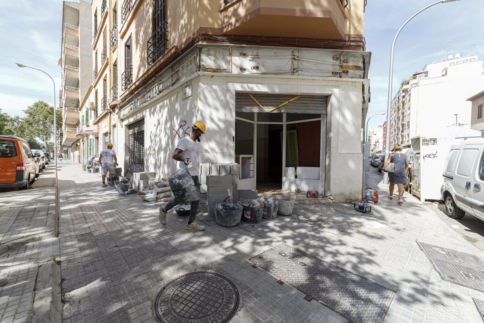 Palma tapiado edificio okupado en carrer manacor foto Miquel A