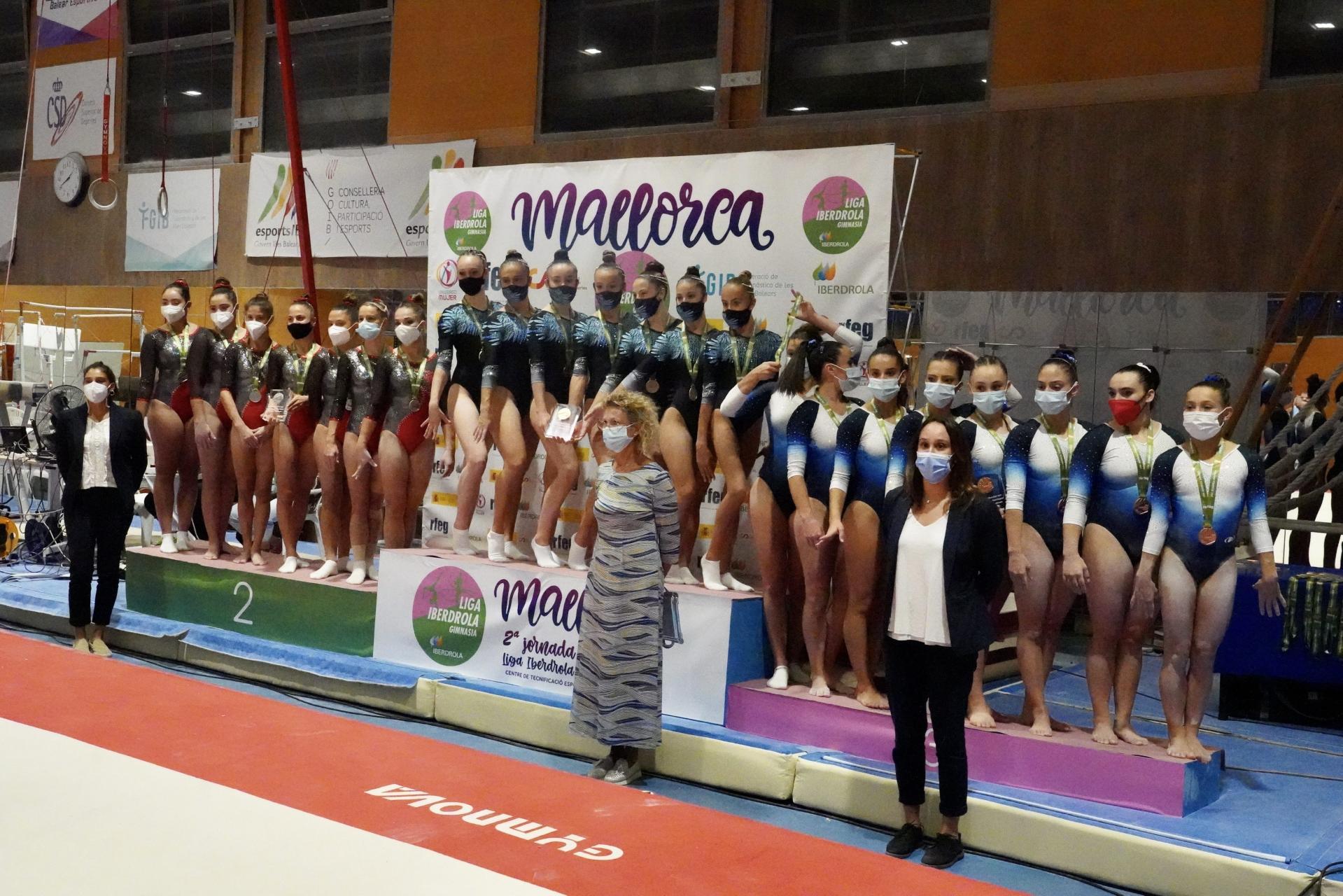 El Xelska dobla podios en la Liga Iberdrola de gimnasia artística