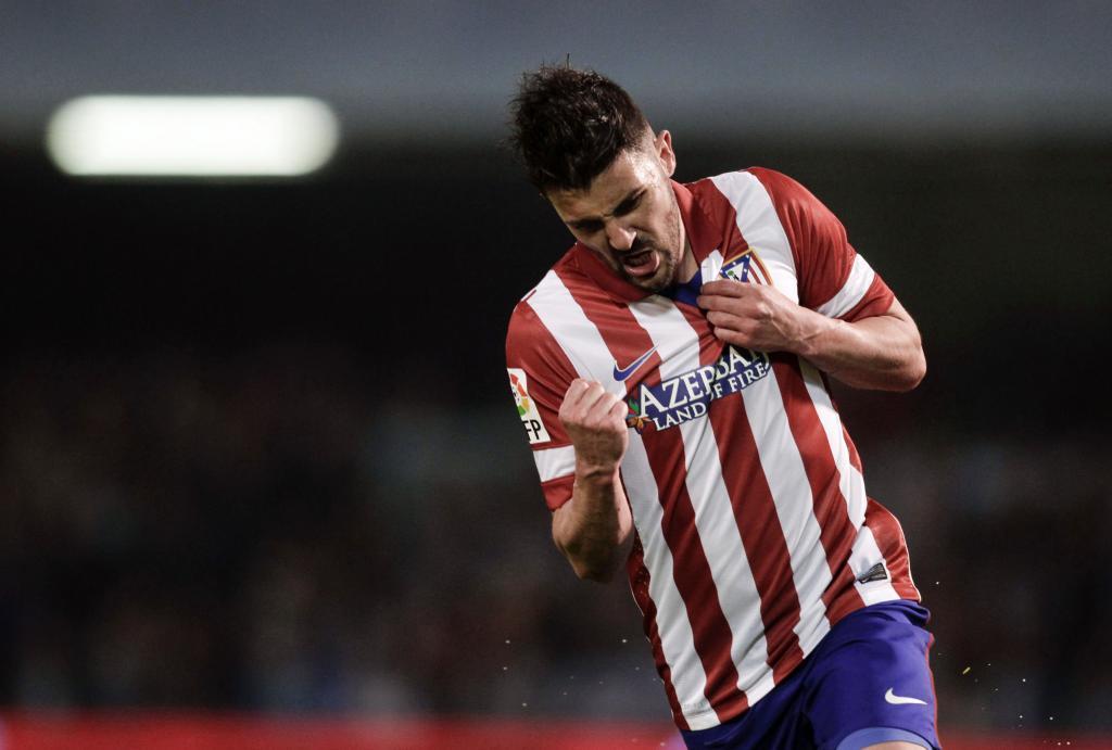 Villa lidera la victoria del Atlético en dos minutos