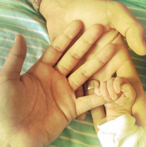 Raquel del Rosario da a luz a su primer hijo