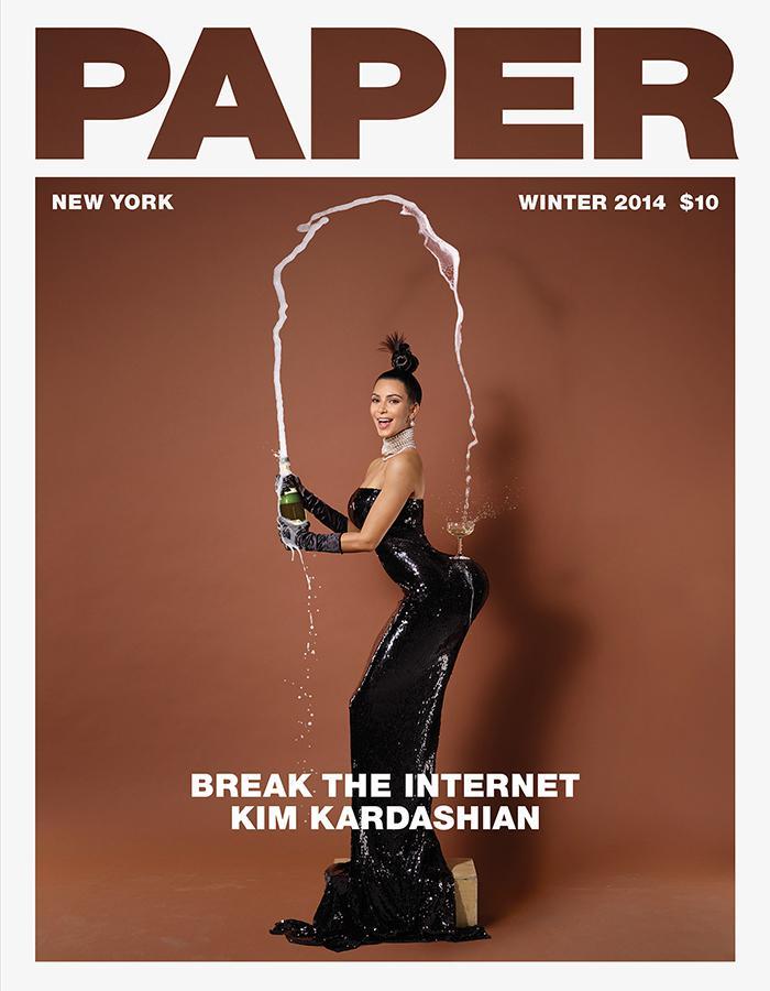 Kim Kardashian aparece semidesnuda en la portada de Paper Magazine