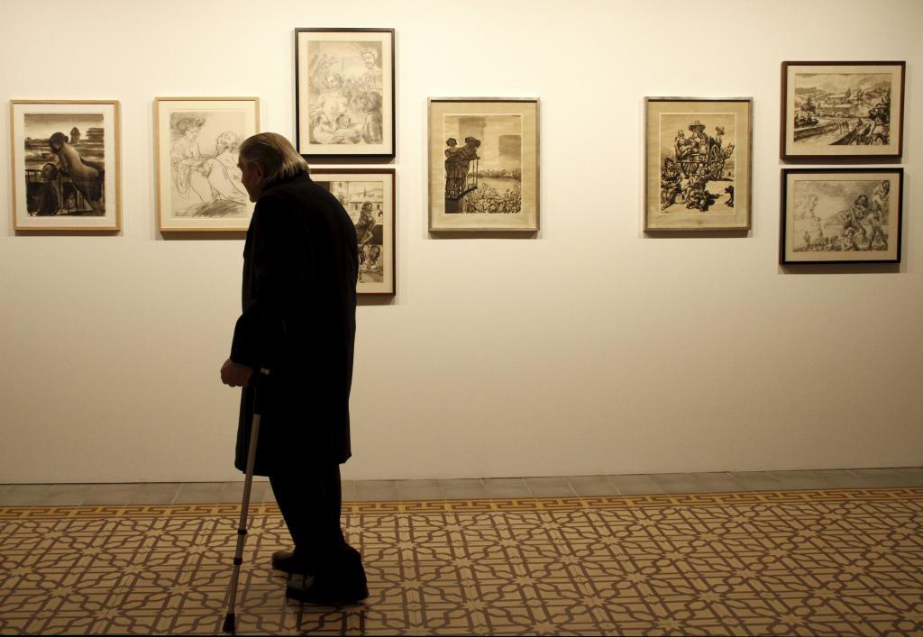 La obra de Josep Bover, «el último pintor bohemio», se expone en Can Prunera