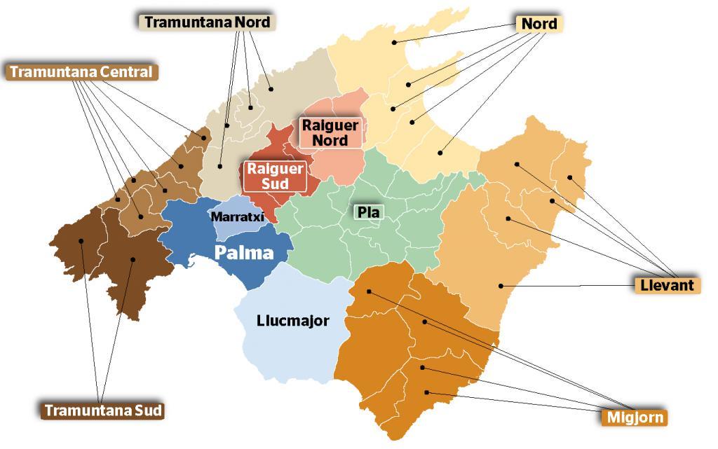 Mapa Municipios La Palma.Upyd Propone Que Solo Haya 12 Municipios