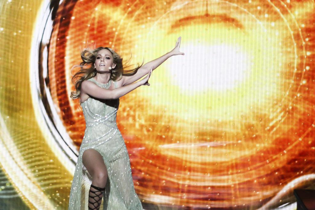 Edurne ensaya en Viena su actuación para Eurovisión