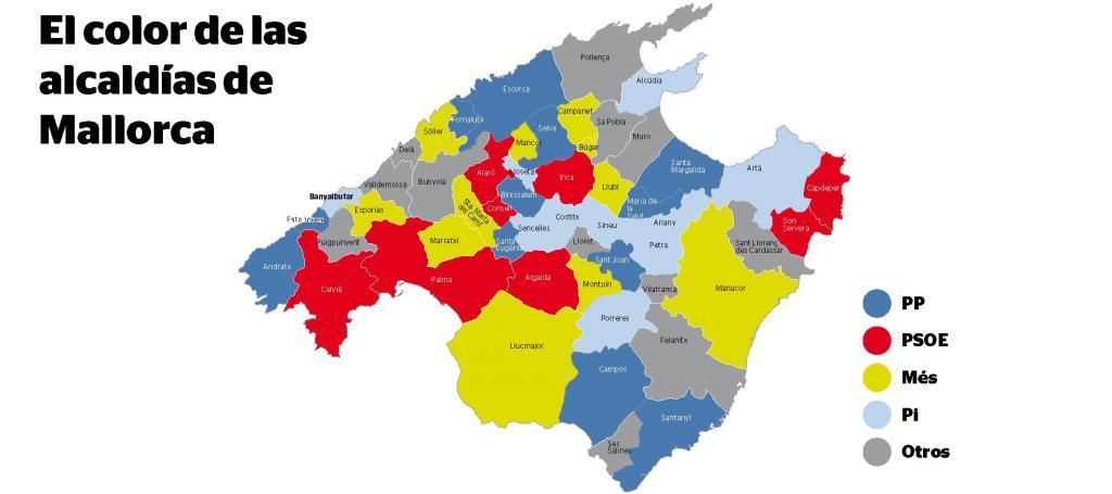 Mapa De Mallorca Municipios.Mallorca Ya Tiene A Sus Alcaldes