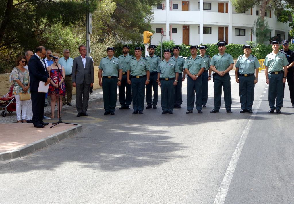 Recuerdo y homenaje a los dos guardias civiles asesinados por ETA en 2009 en Calvià