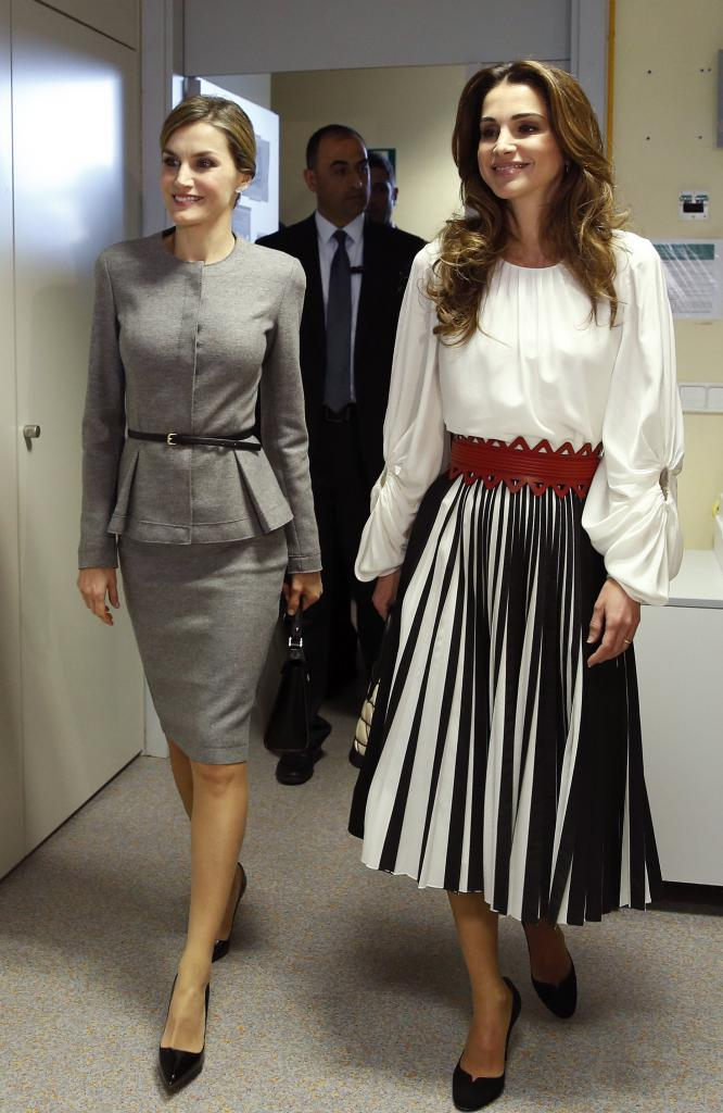 'Guerra' de estilos entre las reinas Letizia y Rania de Jordania
