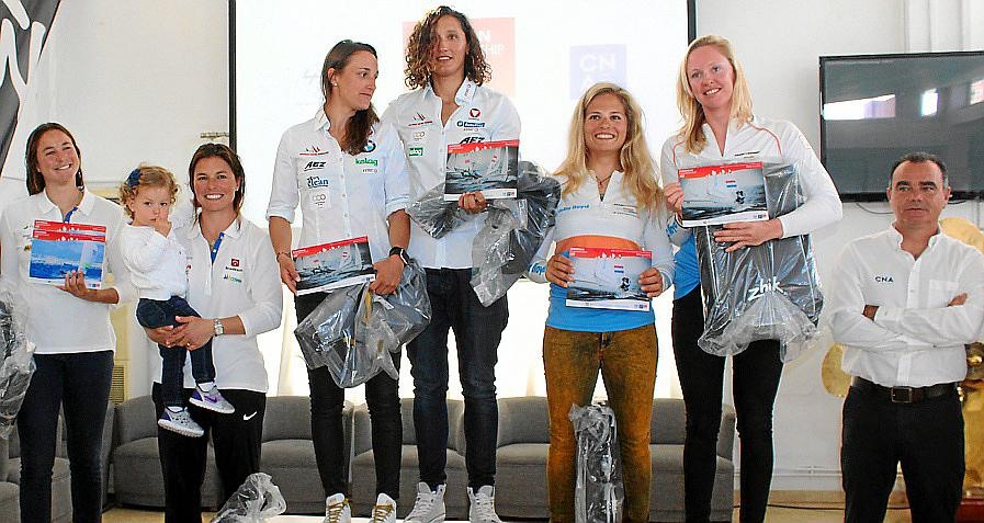 Entrega de trofeos del Europeo 470 de vela