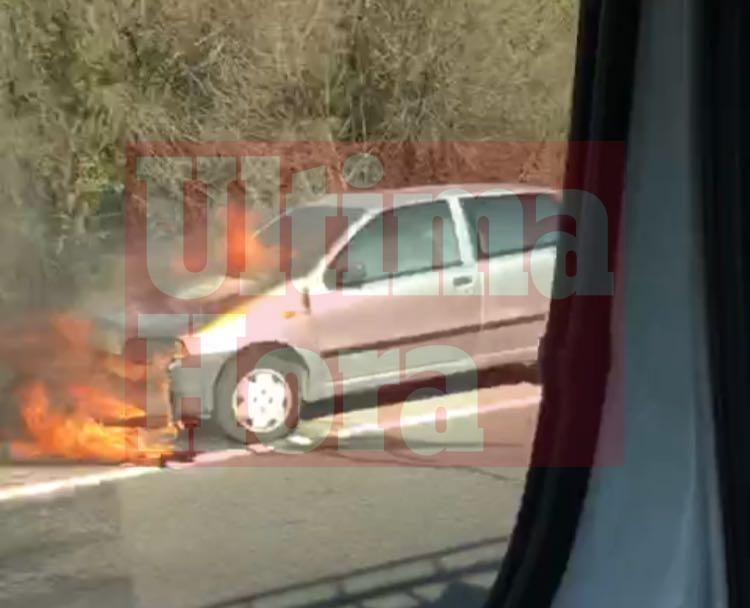 Retenciones en la Vía de Cintura por un vehículo incendiado