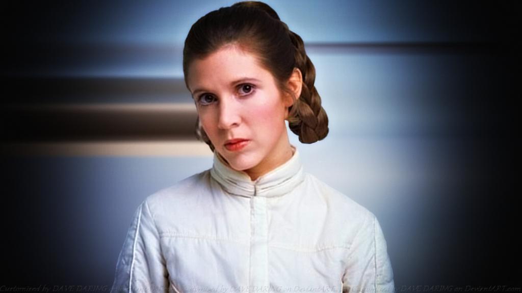 Carrie Fisher en el papel de la princesa Leia
