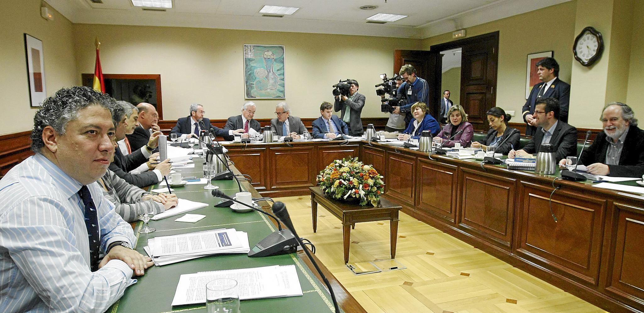 Comisión del Pacto de Toledo en una de sus reuniones
