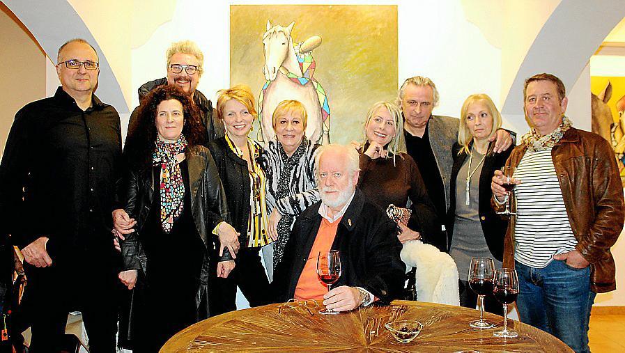 Martín Garrido presenta su obra en la Galería Berlín con motivo del X aniversario de la galería de arte palmesana