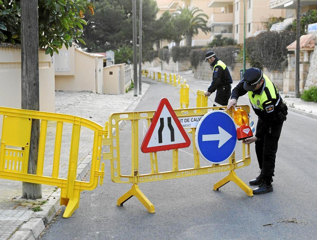 Decretan el desalojo de un chalet en Santa Ponça por riesgo de derrumbe