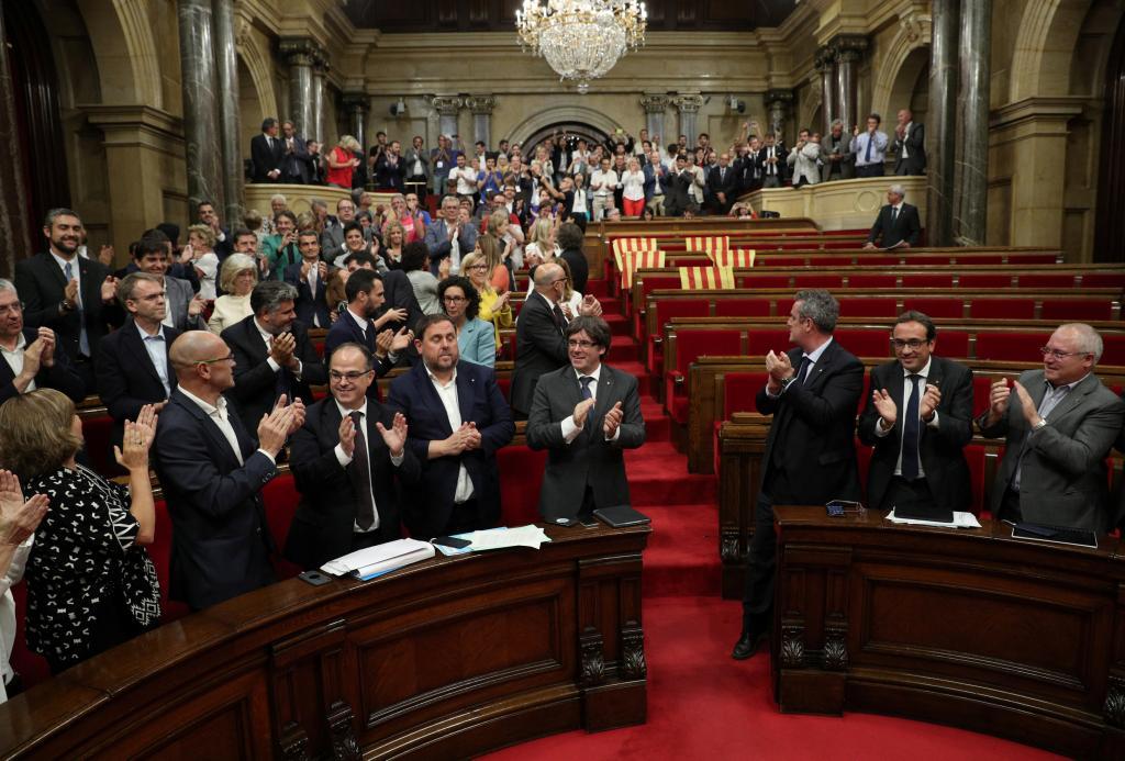 El Parlament catalán aprueba la Ley del Referéndum