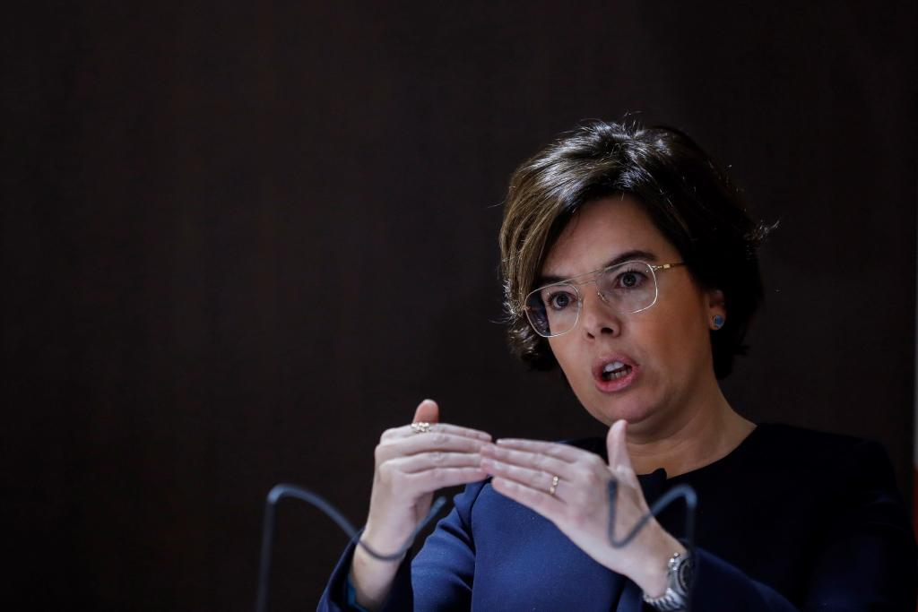 e10053bdbd La vicepresidenta del Gobierno, durante una presentación este martes en  Madrid.