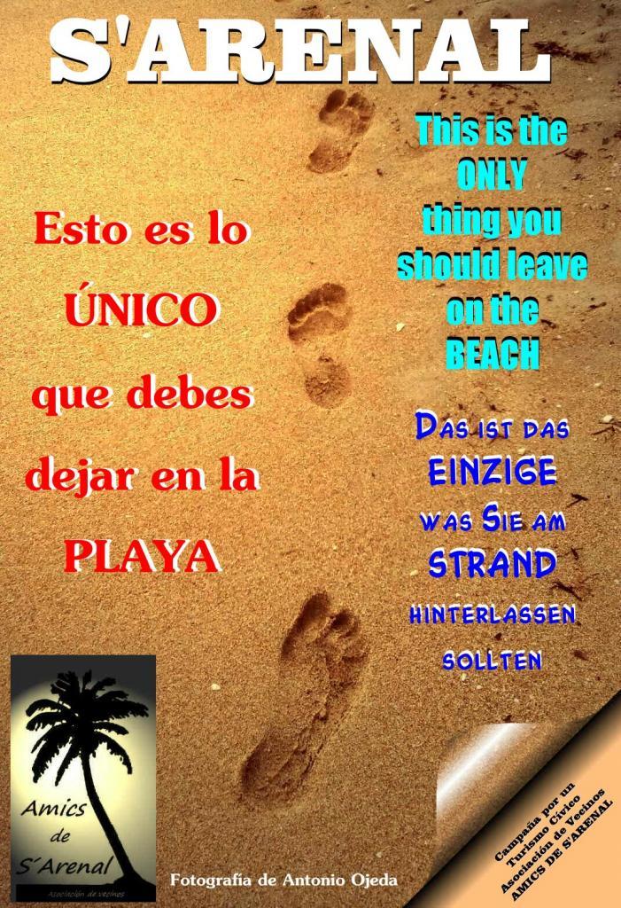 Amics De Sarenal De Llucmajor Colocará Carteles En La Playa Para