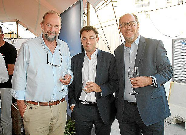 Roger Horner, Javier Portales y Miquel A. Serra.