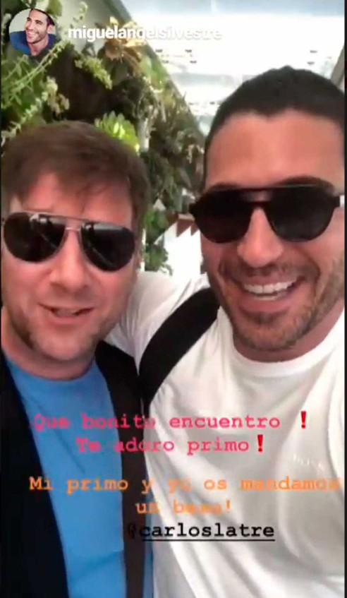 Miguel Ángel Silvestre y Carlos Latre son familia