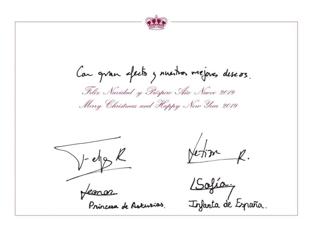 Felicitación navideña de los Reyes