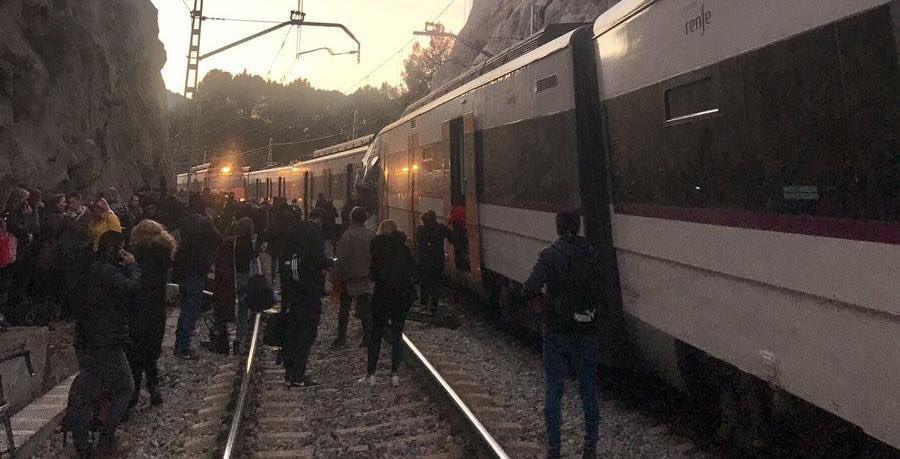 Choque entre dos trenes