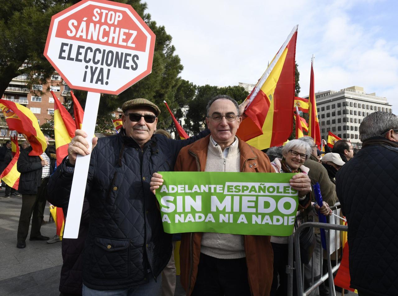 Concentración en la plaza de Colón de Madrid