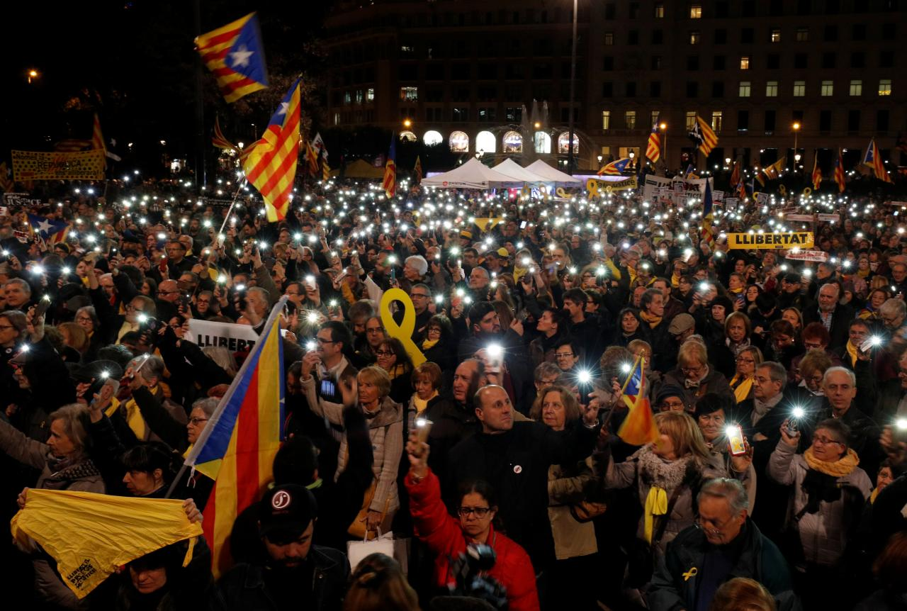 Protest against Supreme Court in Barcelona