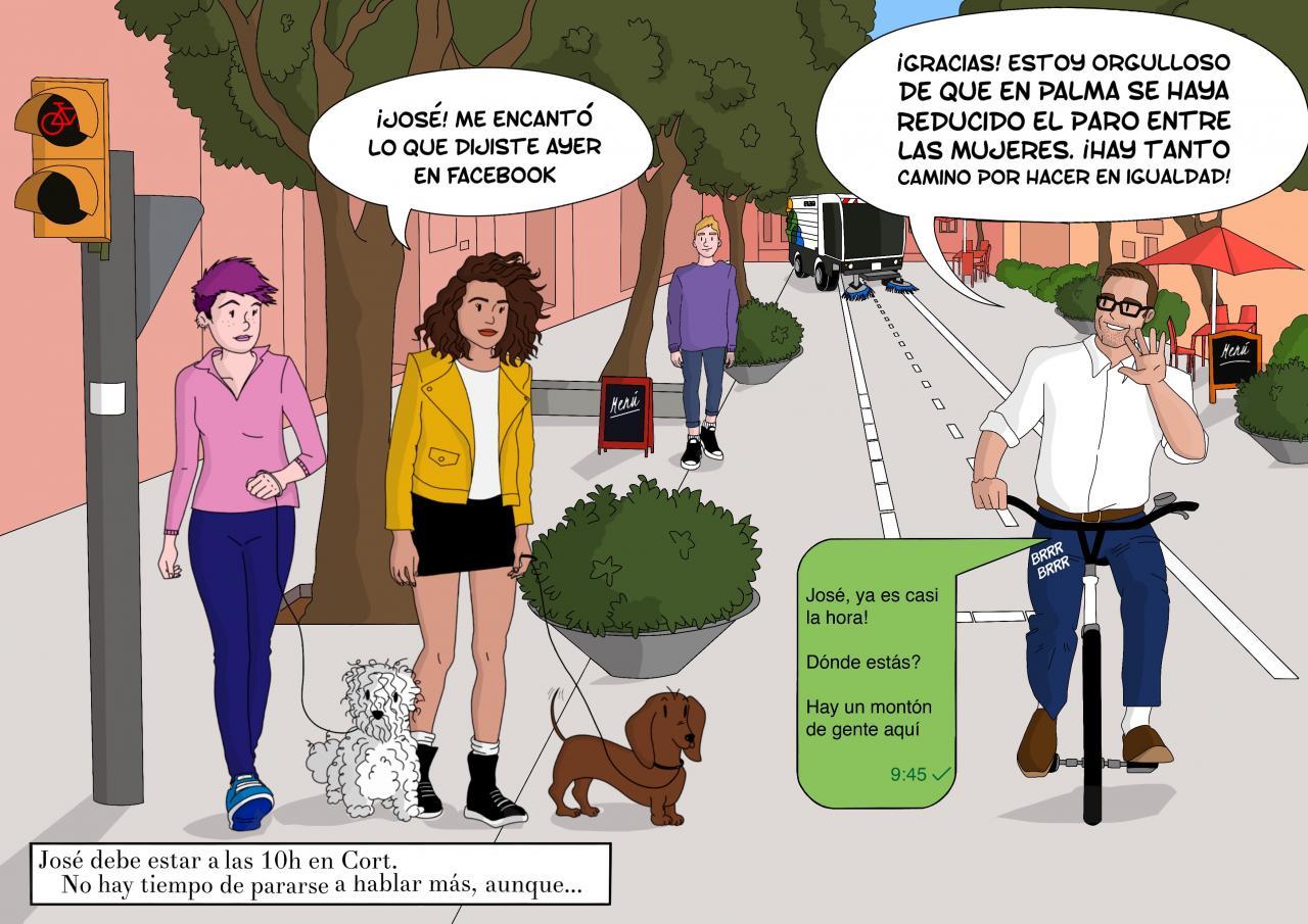 Hila pretende lograr el voto de los más jóvenes a través del cómic
