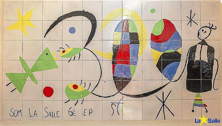 Mural sobre Joan Miró