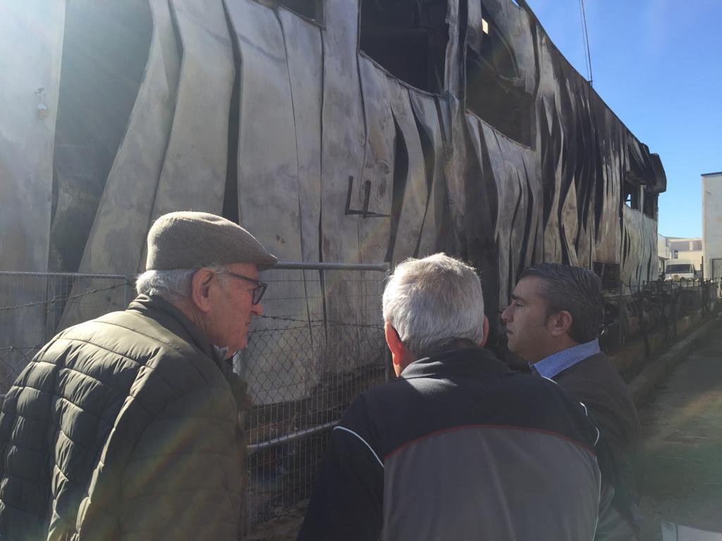 Virgilio Moreno visita la zona afectada