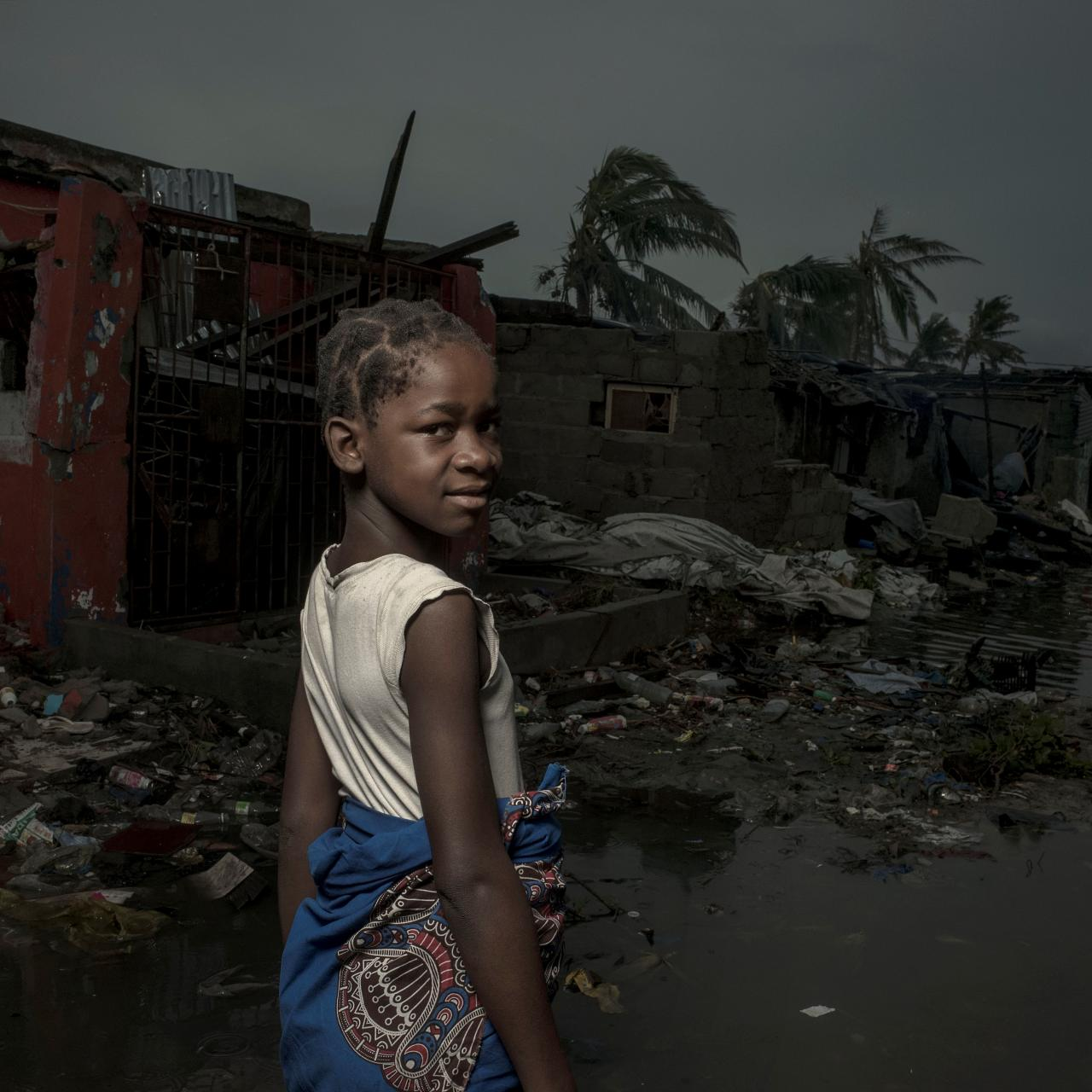 The aftermath of the Cyclone Idai is pictured in Beira