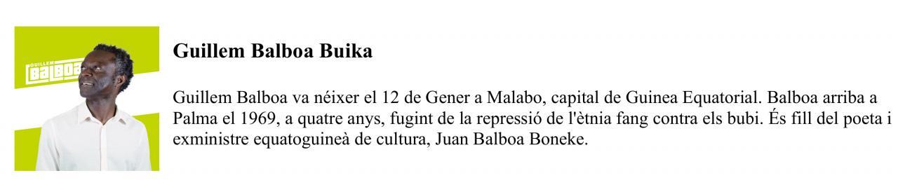 Currículum de Guillem Balboa