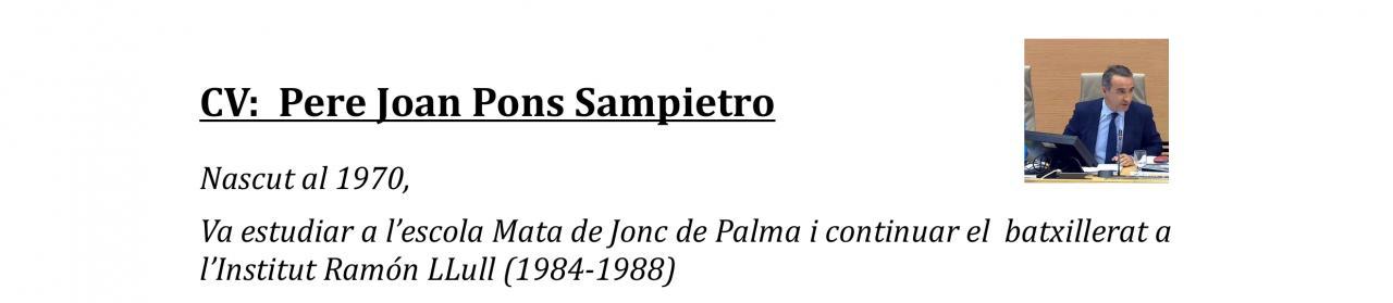 Currículum de Pere Joan Pons