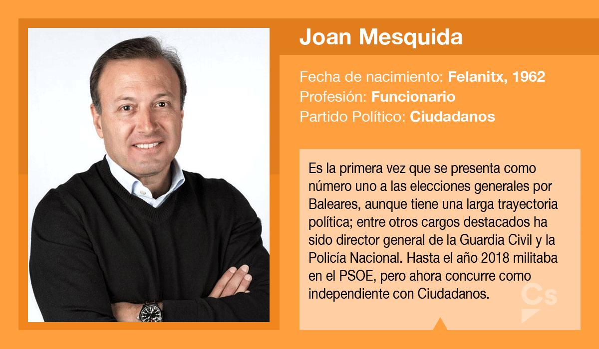 Joan Mesquida, candidato de Ciudadanos