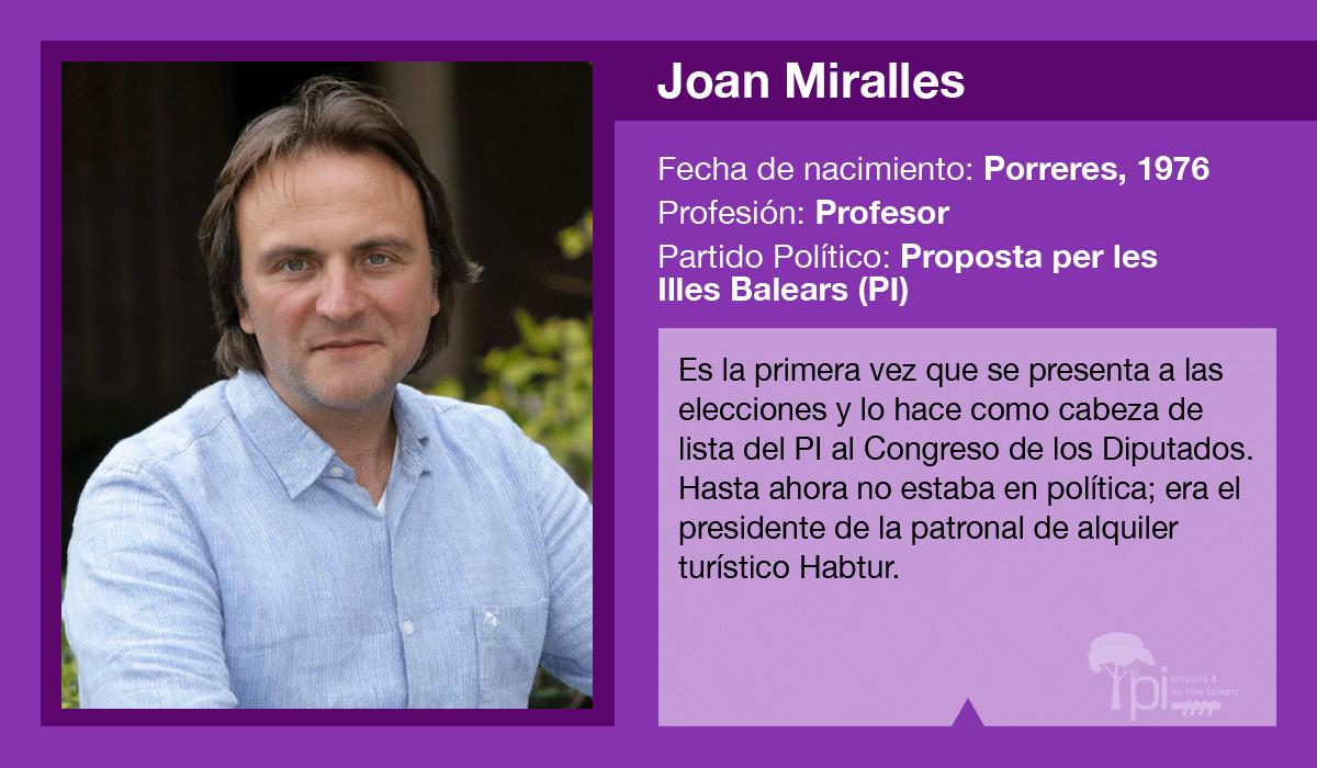 Joan Miralles, candidato del PI