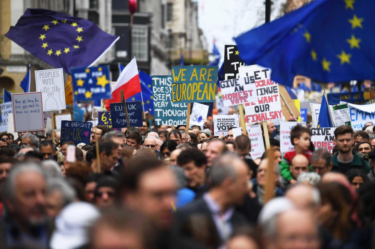 Put it to the People march in London