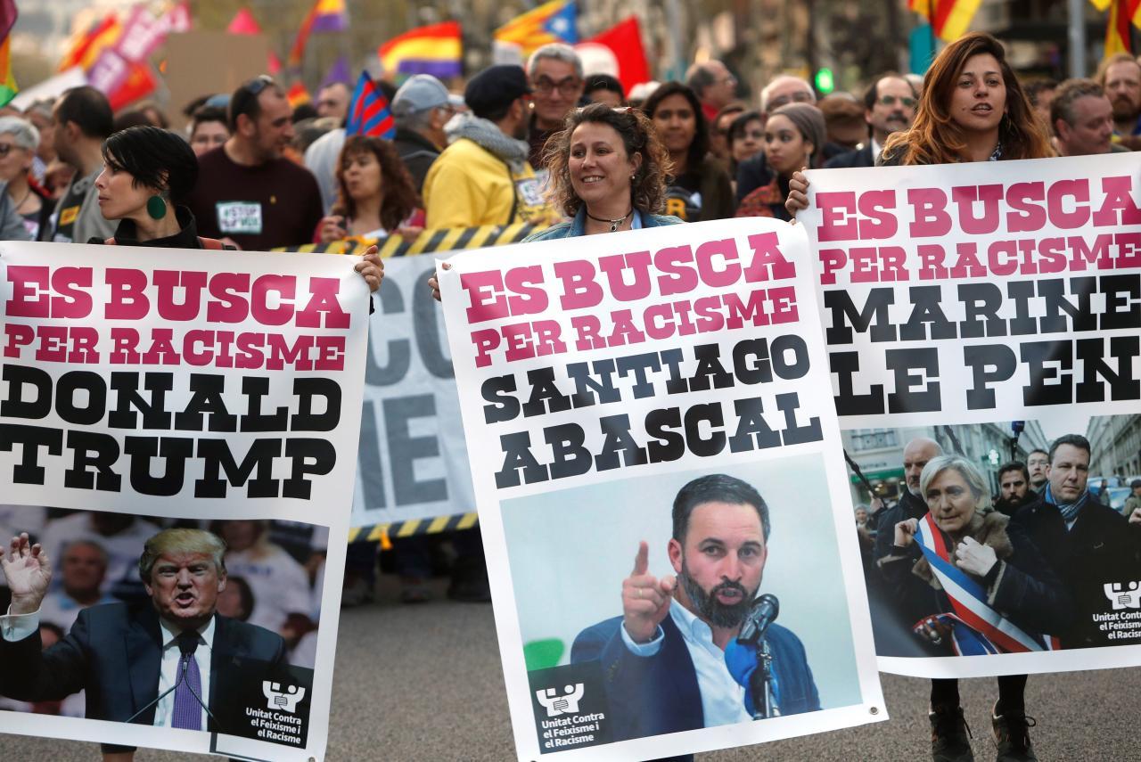 Manifestación contra Vox en Barcelona
