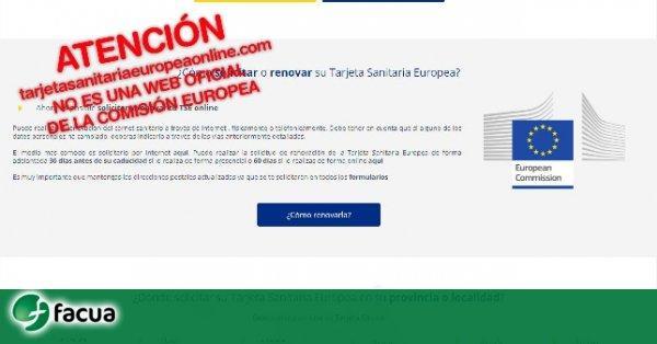 Alertan De Una Web Con El Logo De La Comision Europea Que Cobra 59