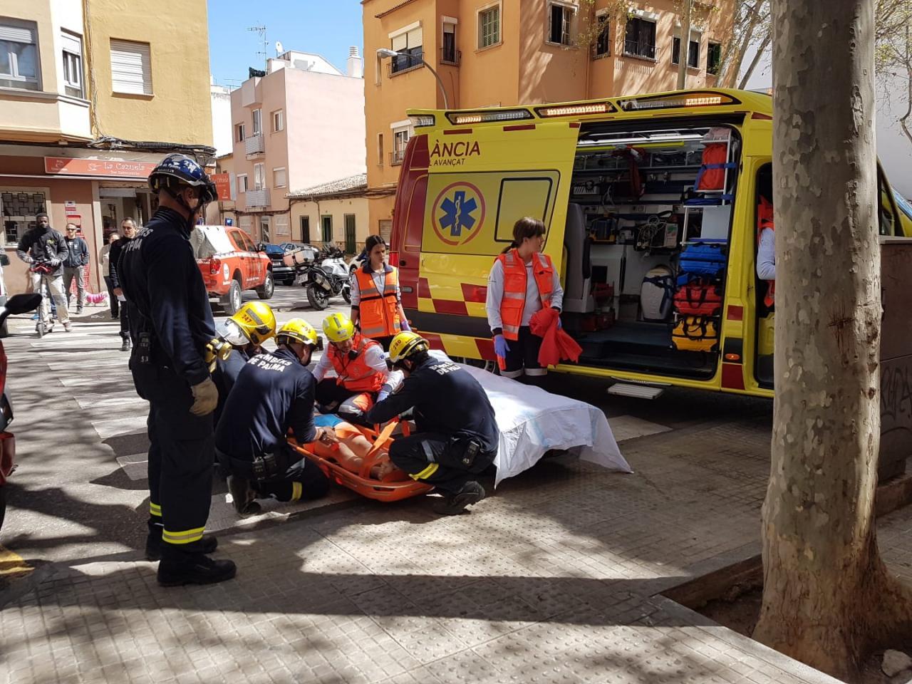 Caída desde un tercer piso de un okupa en Palma