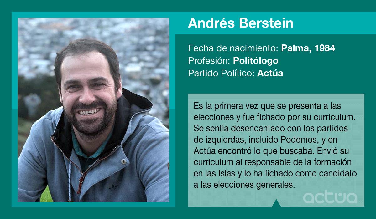 Andrés Bernstein, candidato de Actúa al Congreso
