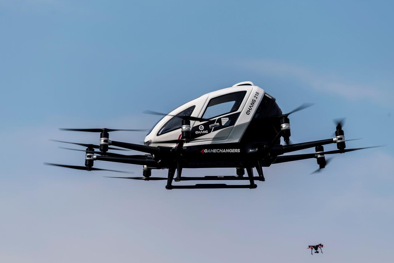 Presentación de dron biplaza no tripulado en Viena