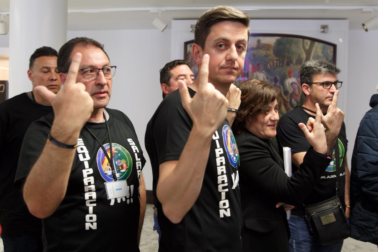 Tensión entre Bildu y sindicatos policiales en el debate de la ley de abusos