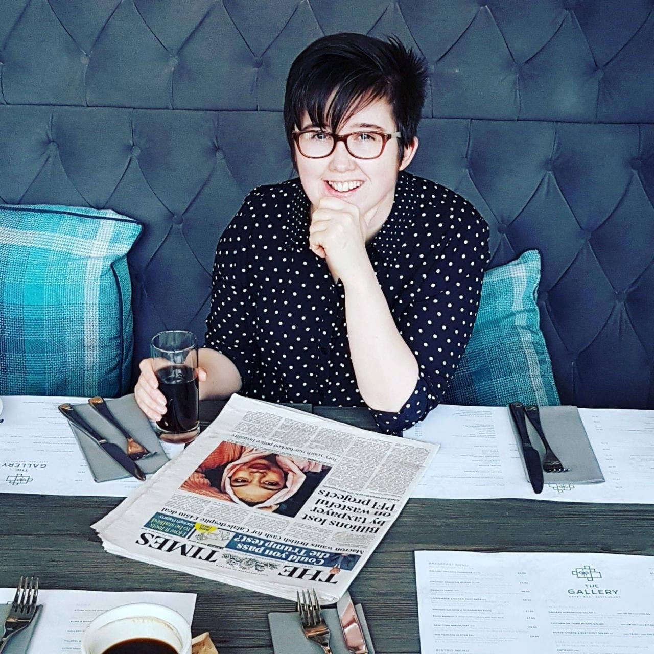 Journalist Lyra McKee is seen in this undated handout picture released by the Police Service of Northern Ireland